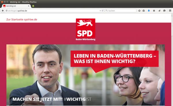 Screenshot: wichtigist.spd-bw.de
