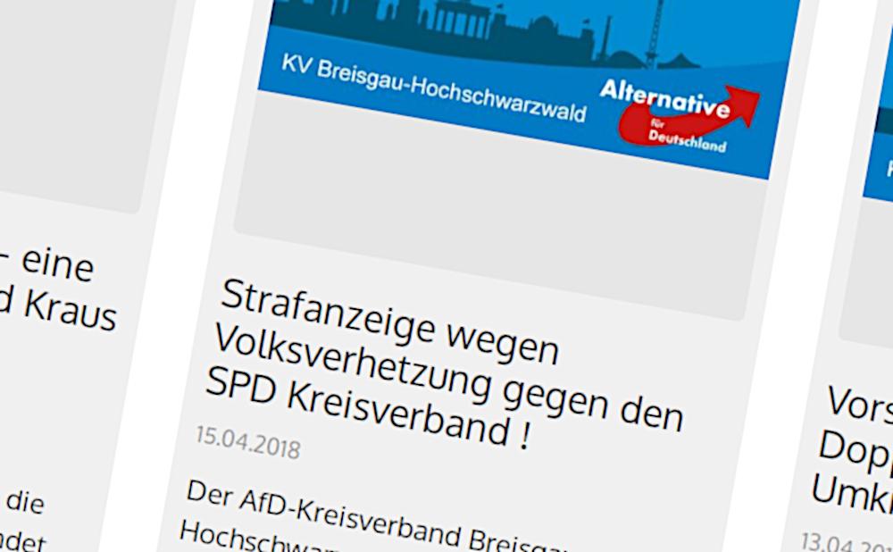 Screenshot AfD-Seite zur Anzeige